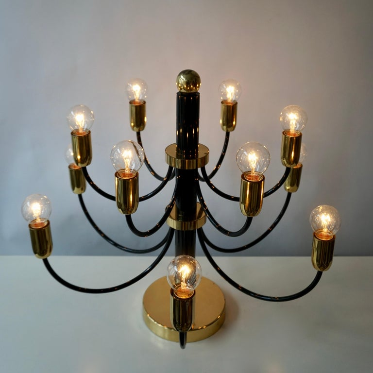 Two Sciolari Brass Chandelier or Flushmount Light For Sale 5