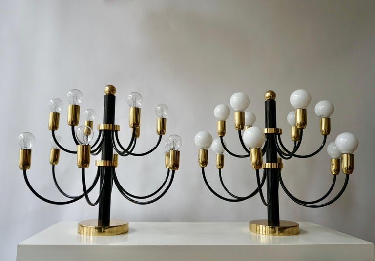 Two Sciolari Brass Chandelier or Flushmount Light For Sale 8