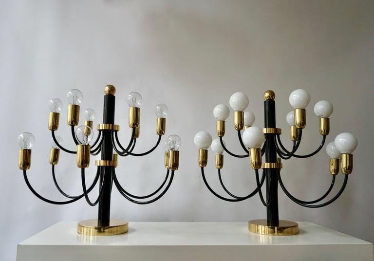 Two Sciolari Brass Chandelier or Flushmount Light For Sale 8
