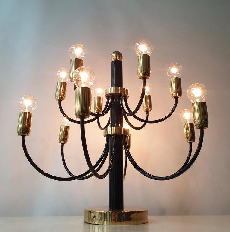 Two Sciolari Brass Chandelier or Flushmount Light For Sale 3