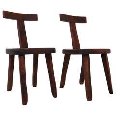 Two Sculptural Chairs by Olavi Hänninen for Mikko Nupponen, Finland, 1950s