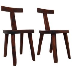 Two Sculptural Chairs, 1950s