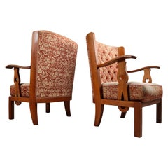 "Two Sculptural ""Orkney"" Style Armchairs, France, 1940s"