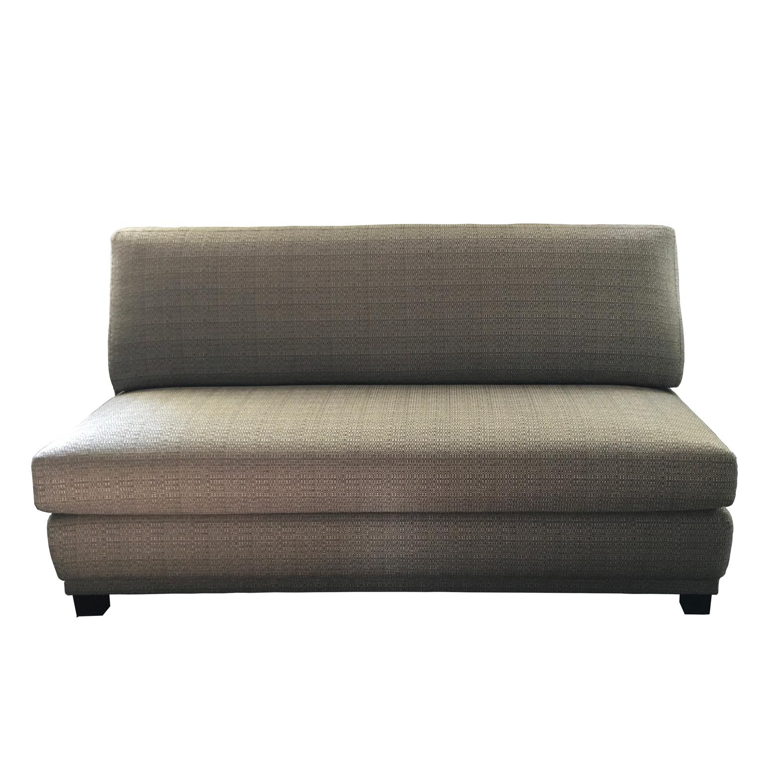 Italy Minimalist Style 3 Seats Upholstered Sofa with Grey Chanel Style Fabric