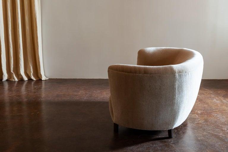 Danish Two-Seat Curved Cabinetmaker Sofa, Denmark, 1940s
