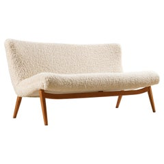 Two-Seat Danish Sofa, Original Piece from the 1950s Newly Upholstered