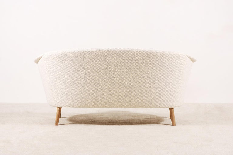 Mid-20th Century Two-Seat Italian Curved Sofa from 1950s For Sale