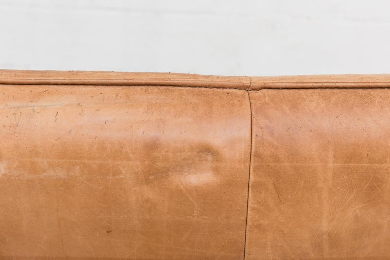 Two-Seat Natural Leather Sofa Designed by Gerard van den Berg for Montis, 1970 For Sale 6
