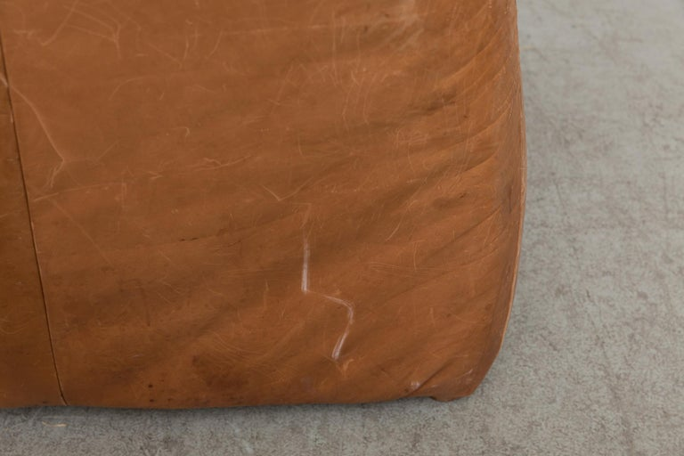 Two-Seat Natural Leather Sofa Designed by Gerard van den Berg for Montis, 1970 For Sale 9
