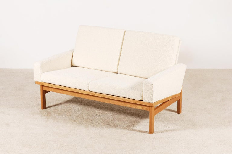 Danish Two-Seat Poul Volther Sofa with Bouclette Fabric, 1960s For Sale