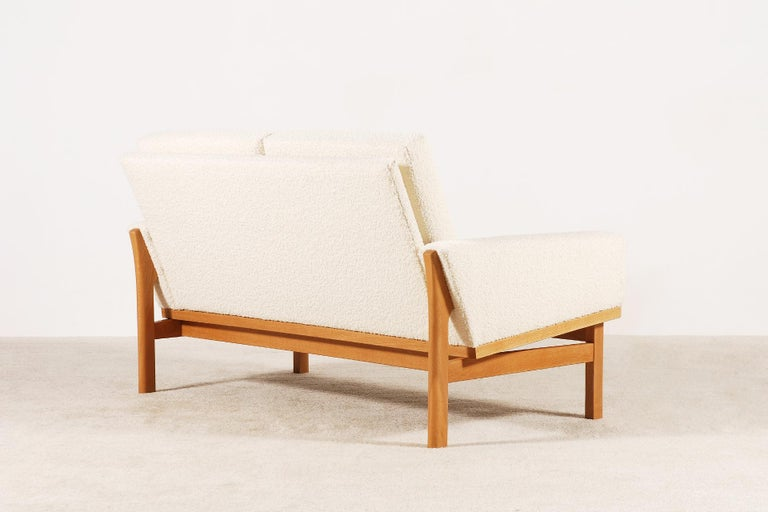 Two-Seat Poul Volther Sofa with Bouclette Fabric, 1960s For Sale 1