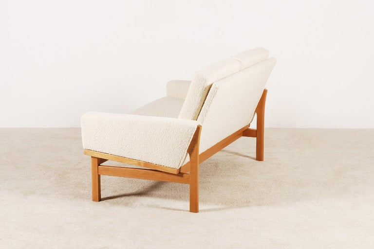 Two-Seat Poul Volther Sofa with Bouclette Fabric, 1960s For Sale 2