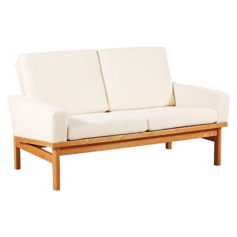 Two-Seat Poul Volther Sofa with Bouclette Fabric, 1960s For Sale