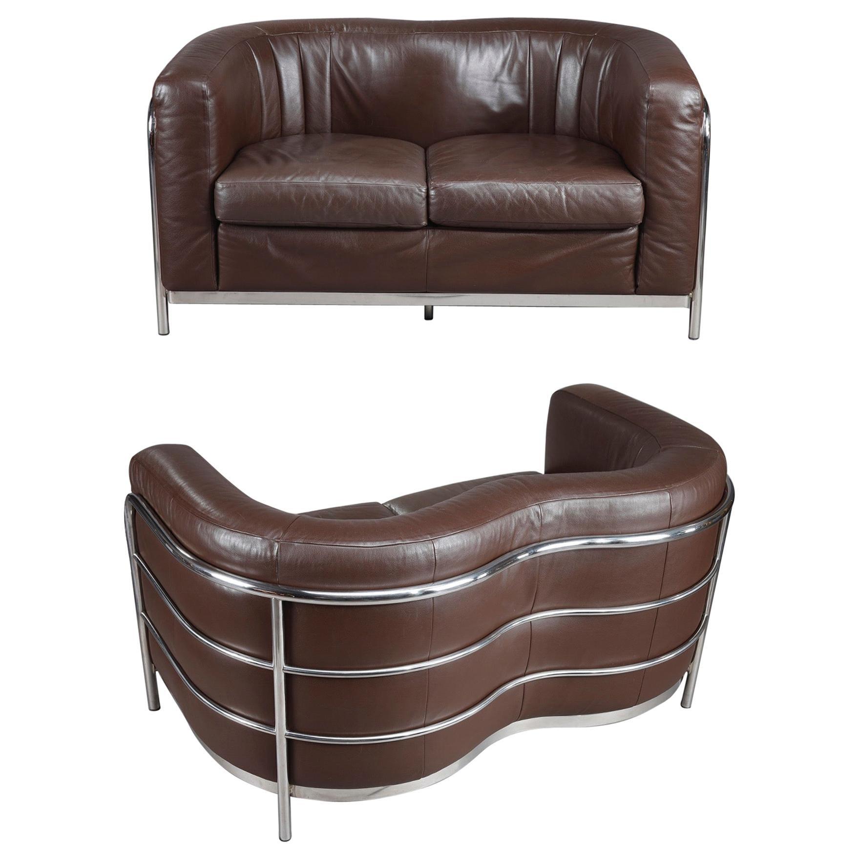 """Two-Seat Sofa by Zanotta, """"Onda, Italy"""
