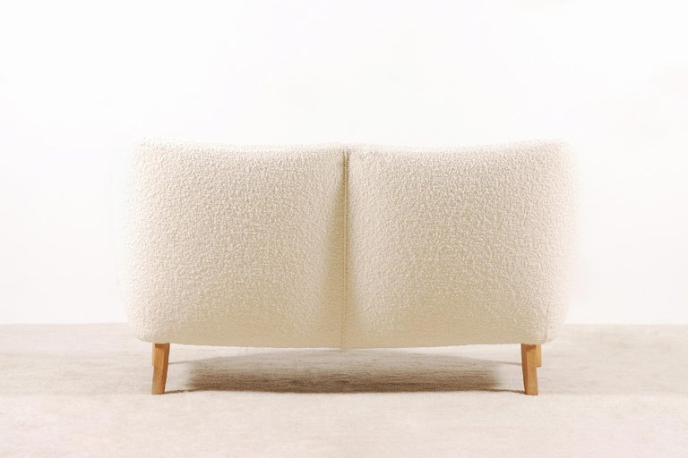 Two-Seat Sofa, Denmark, 1950, New Upholstery In Excellent Condition For Sale In Paris, FR