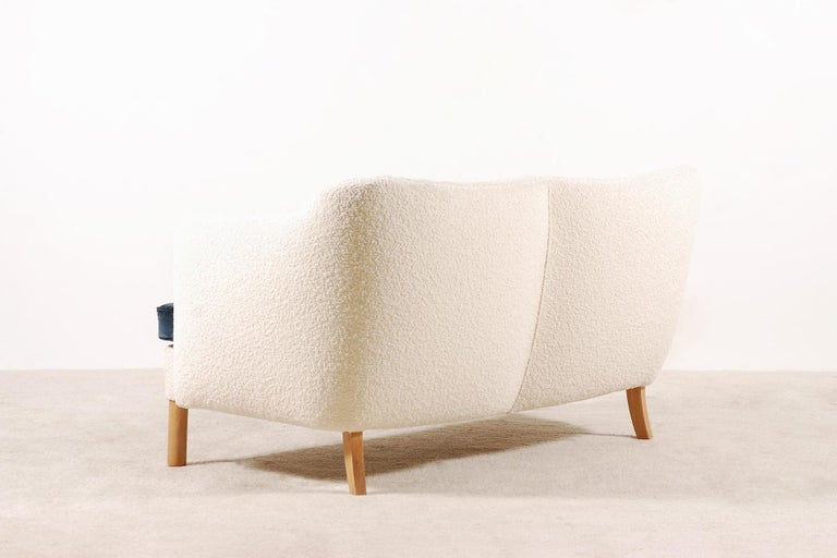 Mid-20th Century Two-Seat Sofa, Denmark, 1950, New Upholstery For Sale
