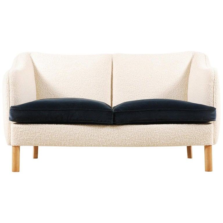 Two-Seat Sofa, Denmark, 1950, New Upholstery For Sale