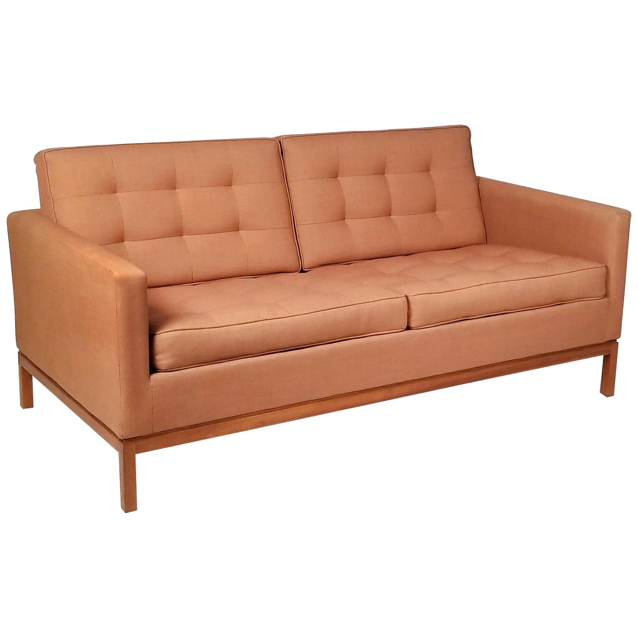 Two-Seat Sofa Designed by Florence Knoll for Knoll International