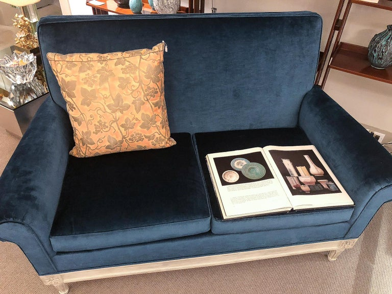 French Two-Seat Sofa, France, 1940s For Sale