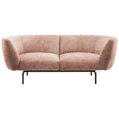 Two-Seat Pink Velvet Rendez-Vous Sofa by Sergio Bicego, Made in Italy