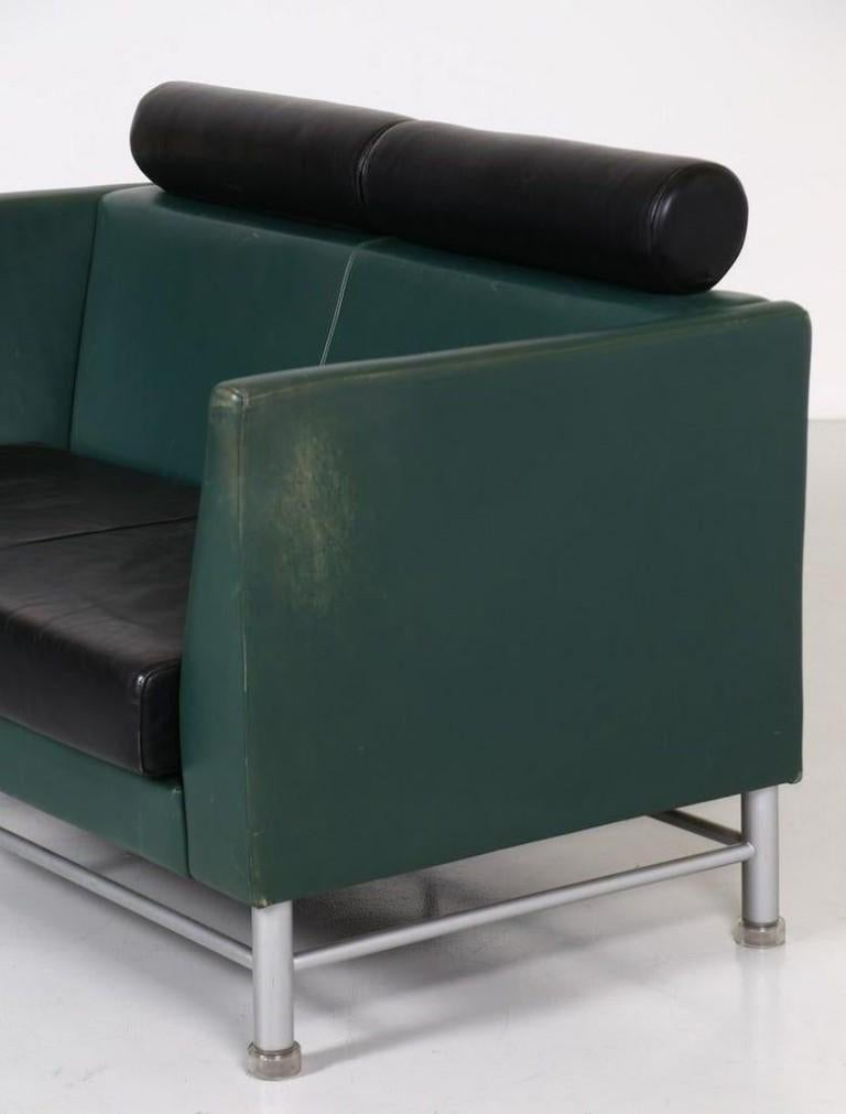 Italian Two-Seat Sofa and Armchair, Ettore Sottsass, 1990s For Sale