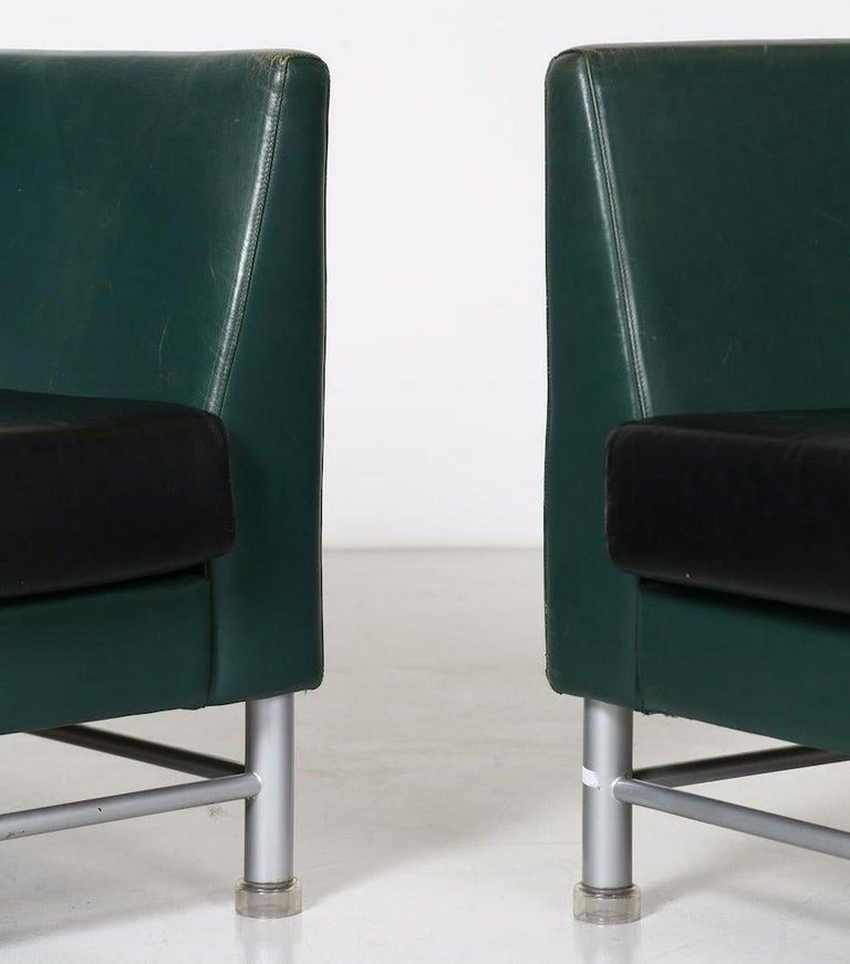 Two-Seat Sofa and Armchair, Ettore Sottsass, 1990s In Good Condition For Sale In Roma, IT
