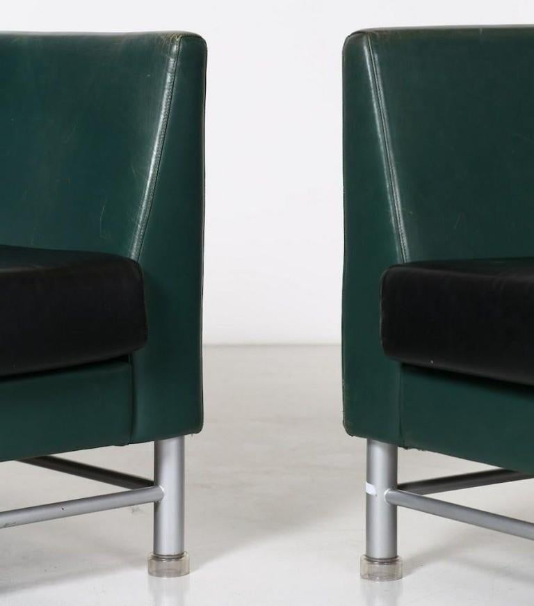 Late 20th Century Two-Seat Sofa and Armchair, Ettore Sottsass, 1990s For Sale