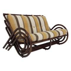 Two-Seats Bamboo Sofa, Italy circa 1970