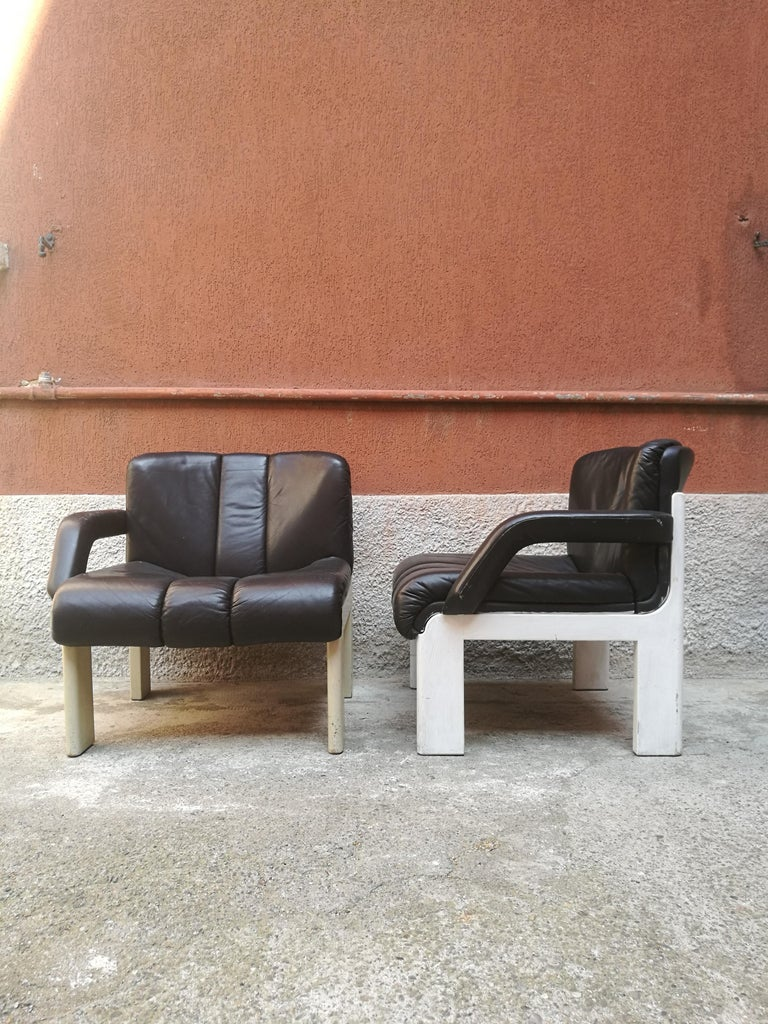 Outstanding Two Seat Leather Modular Sofa 1980S Machost Co Dining Chair Design Ideas Machostcouk