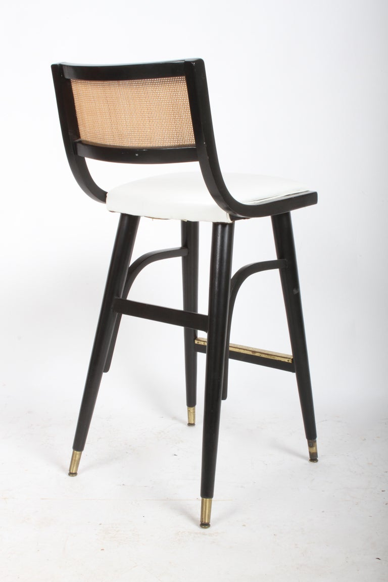 Two Sets of Four Midcentury Bar Stools For Sale 4
