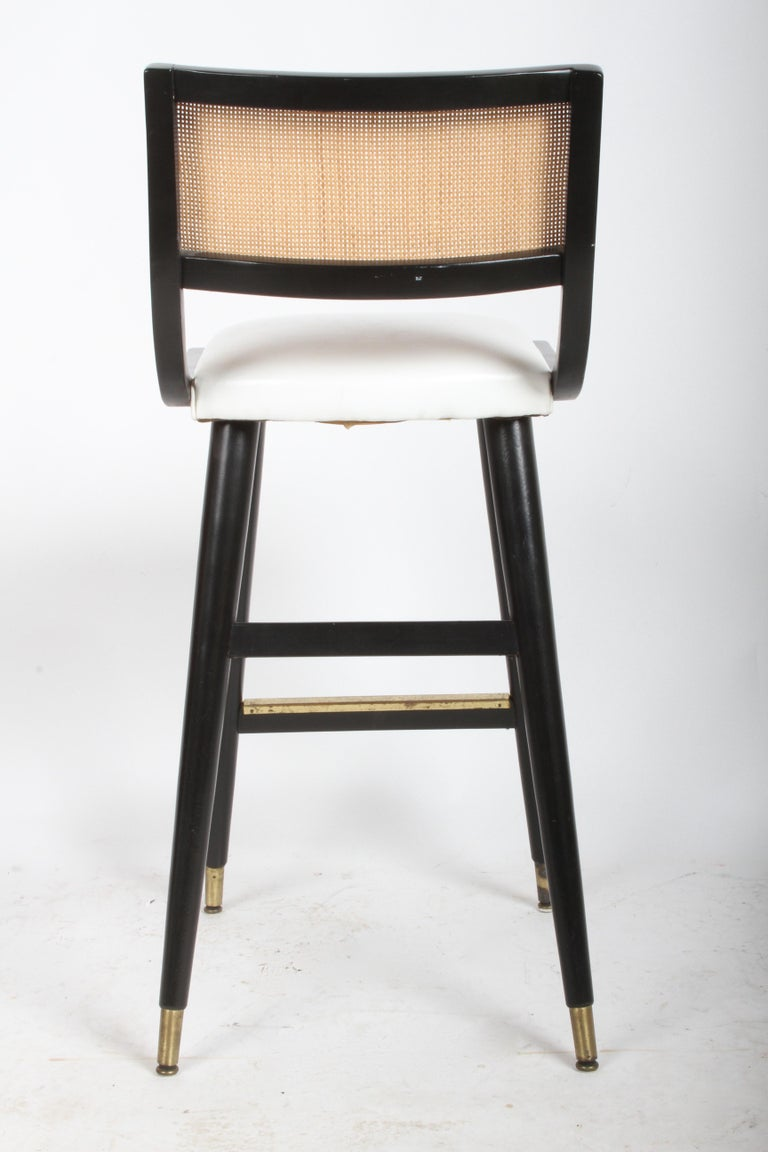 Two Sets of Four Midcentury Bar Stools For Sale 5