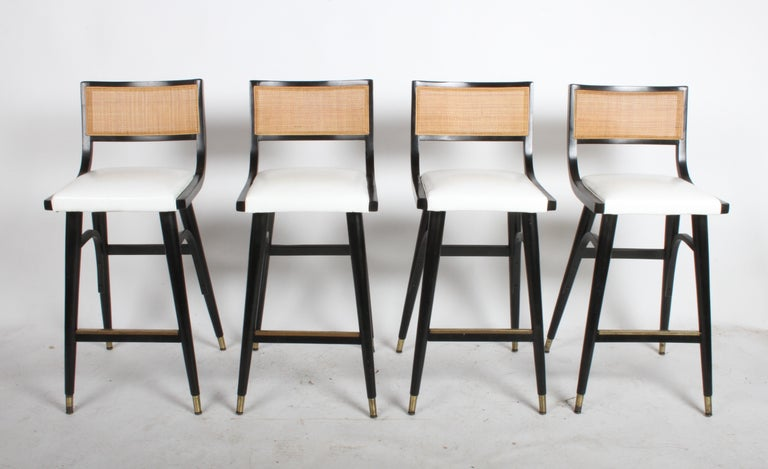 Two Sets of Four Midcentury Bar Stools For Sale 7