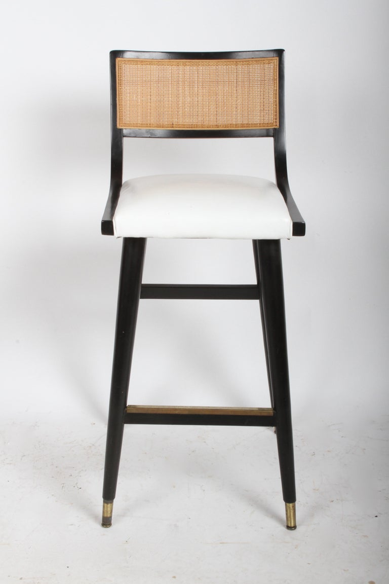 Two Sets of Four Midcentury Bar Stools For Sale 8