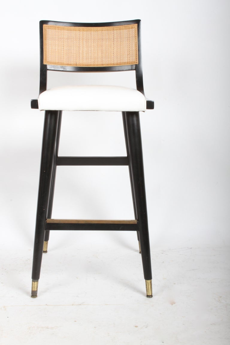 Mid-Century Modern Two Sets of Four Midcentury Bar Stools For Sale