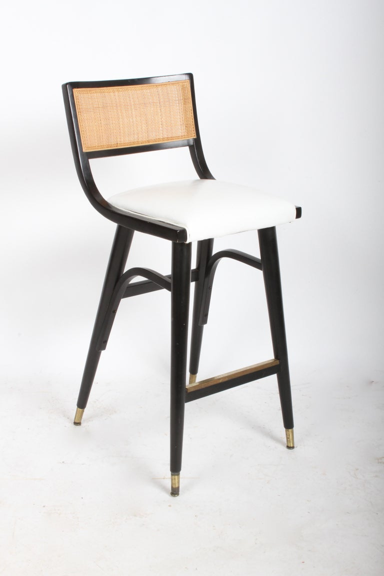 Two Sets of Four Midcentury Bar Stools For Sale 1