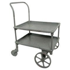 Two Shelf Industrial Cart on Wheels
