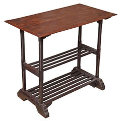 Two-Shelf Wood Utility Table from Thailand