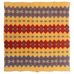 Two Sided Cotton Beacon Blanket, circa 1920