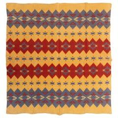 Two Sided Cotton Beacon Blanket, circa 1920