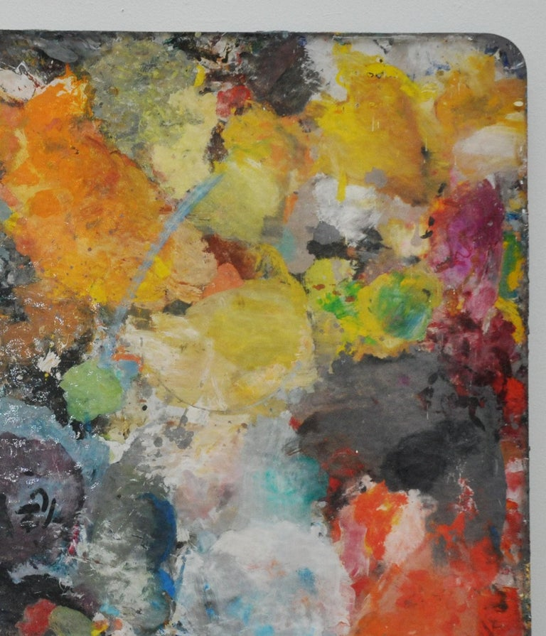 Mid-Century Modern Two-Sided Plexi Painter's Pallete For Sale