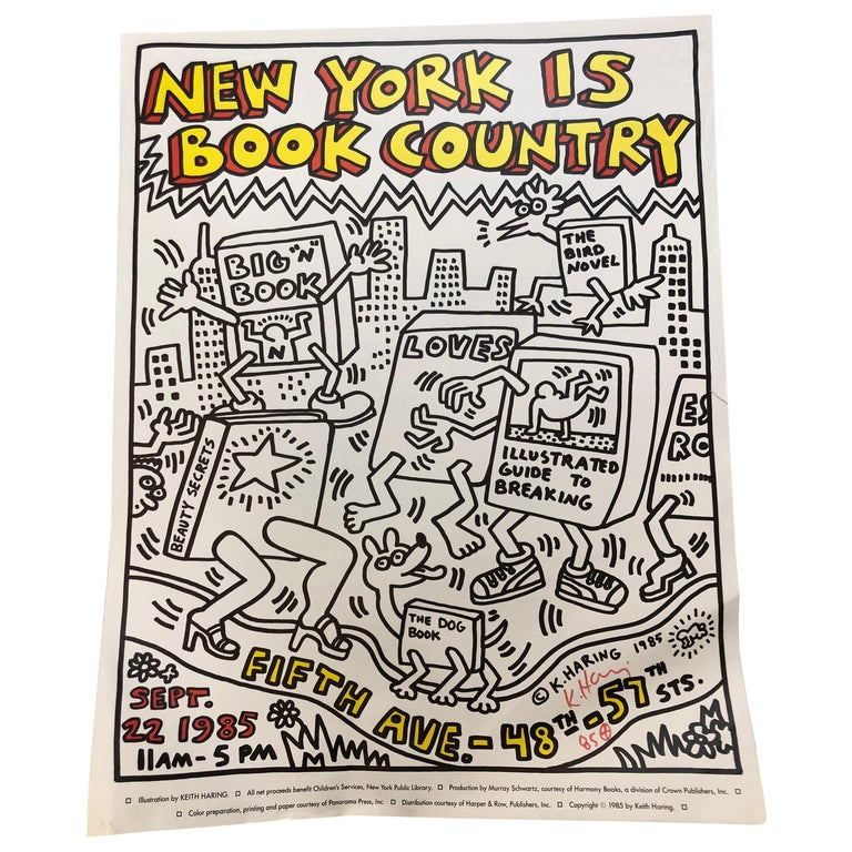 Two Signed Keith Haring Posters