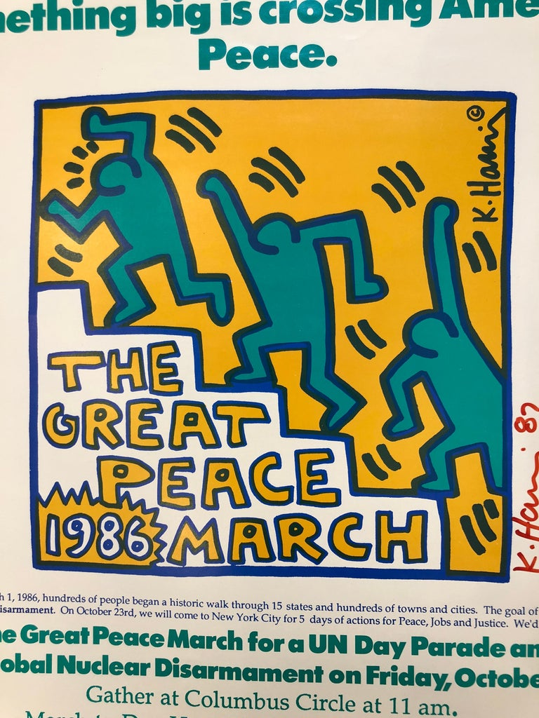 Two Signed Keith Haring Posters For Sale 2
