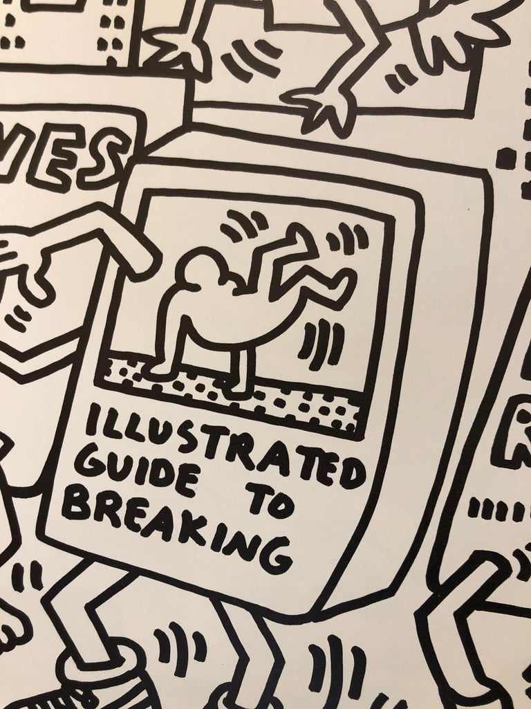 Two Signed Keith Haring Posters For Sale 3