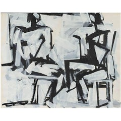 """Two Sitting Figures"", Michael Loew 1984"