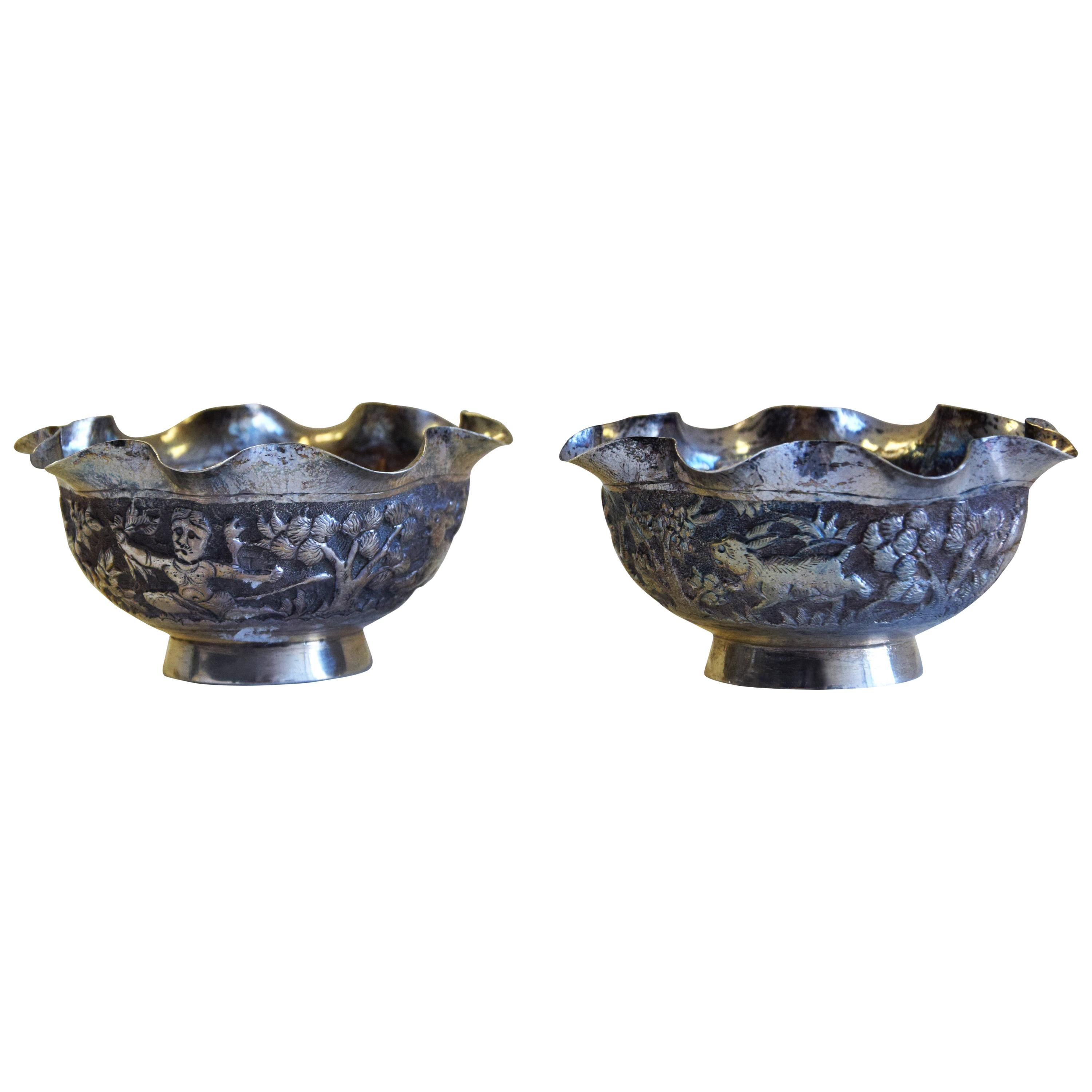 Two Small Silver Bowls, China, Early 20th Century