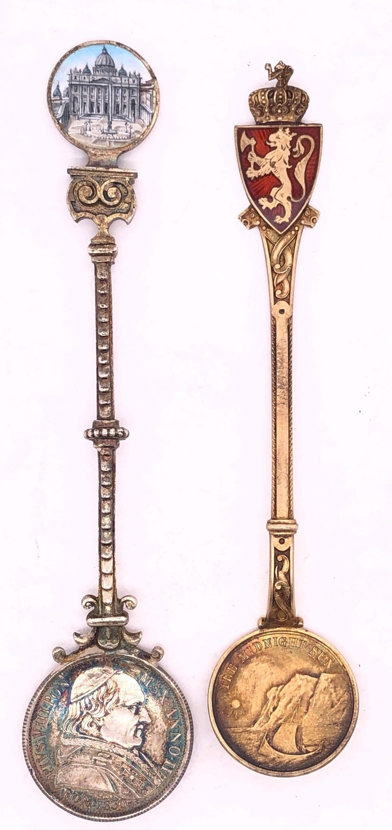 925 Sterling Silver Souvenir Medallion Spoon. David Anderson Sterling Silver