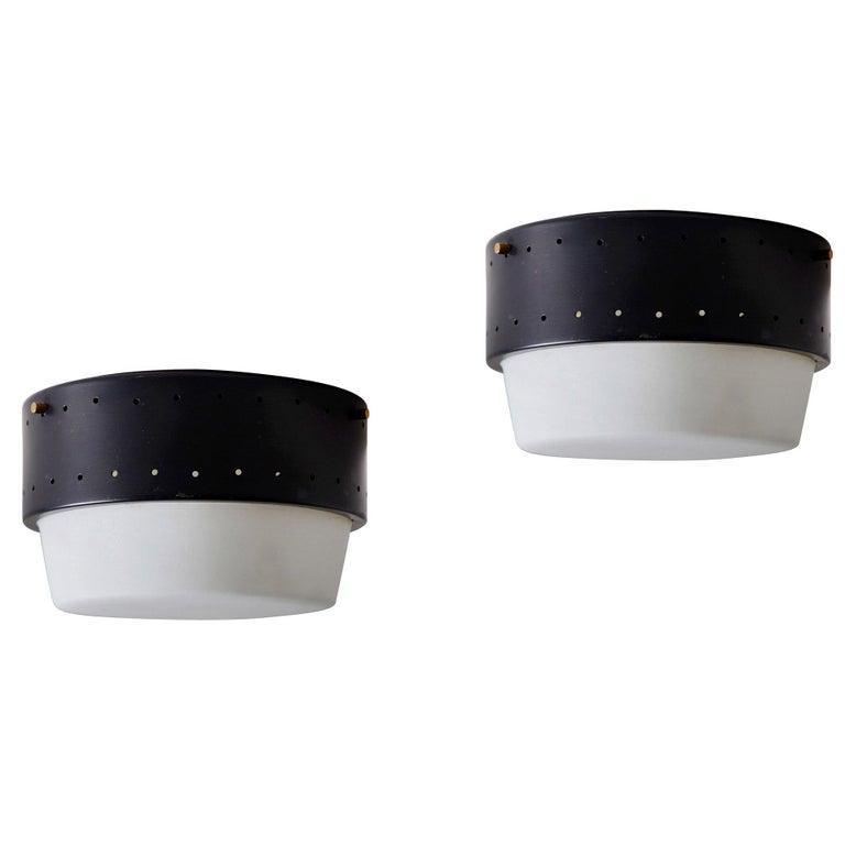 Stilnovo Flush Mount Ceiling Light For Sale