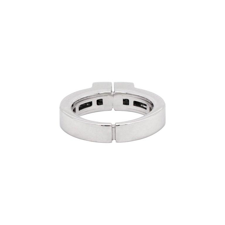 Brilliant Cut Two-Stone Diamond 80% White Gold Dress Ring For Sale