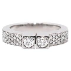 Two-Stone Diamond 80% White Gold Dress Ring