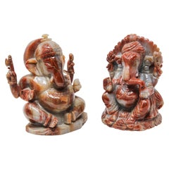 Two Stones Ganesh Hindu Diety Statues